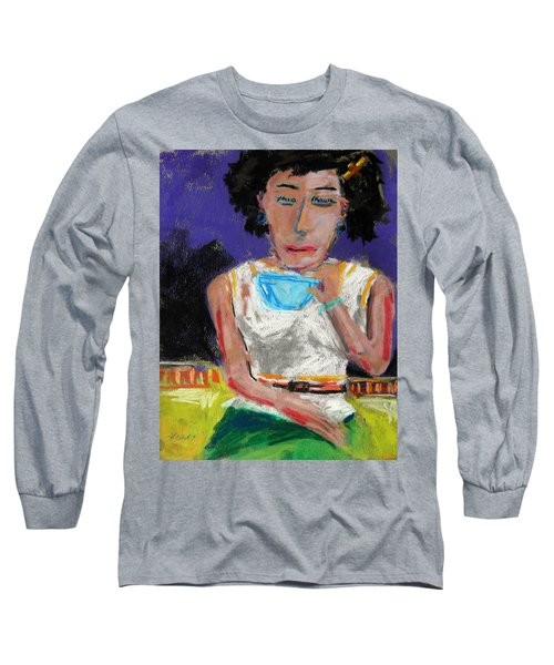 Long Sleeve T-Shirt featuring the painting Need Coffee by John Williams