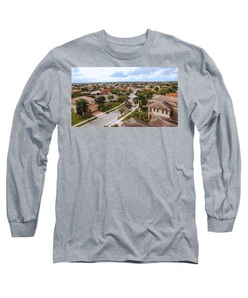 Neighborhood Aerial Long Sleeve T-Shirt