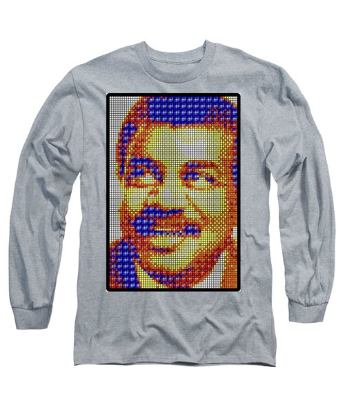 Long Sleeve T-Shirt featuring the digital art Neil Degrasse Tyson Art Mosaic by Shawn Dall