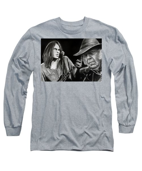Neil Young And Neil Old Long Sleeve T-Shirt
