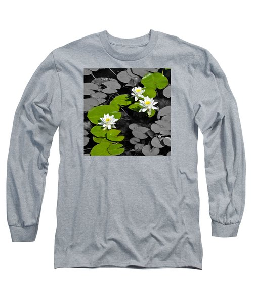 Long Sleeve T-Shirt featuring the photograph Nenuphar by Gina Dsgn