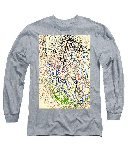 Nerve Cells Santiago Ramon Y Cajal Long Sleeve T-Shirt