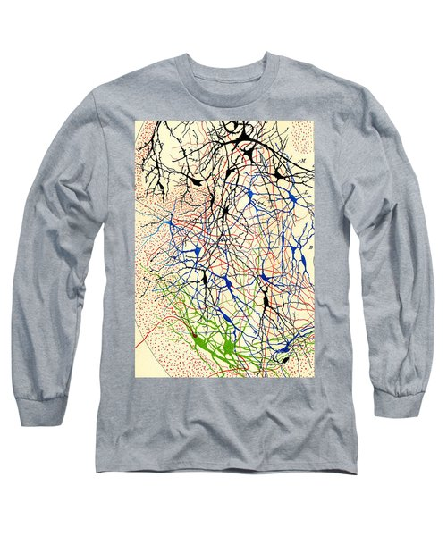 Nerve Cells Santiago Ramon Y Cajal Long Sleeve T-Shirt