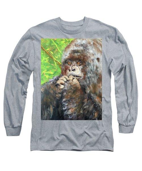 Nervous Mama Gorilla Long Sleeve T-Shirt