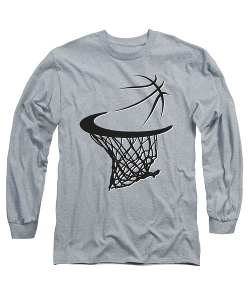 Nets Basketball Hoop Long Sleeve T-Shirt