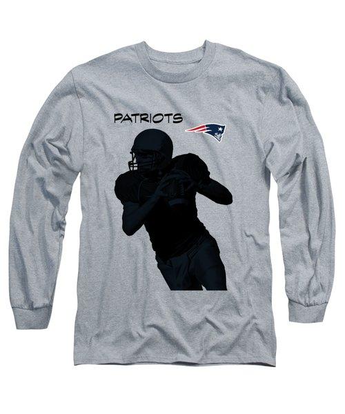 New England Patriots Football Long Sleeve T-Shirt by David Dehner