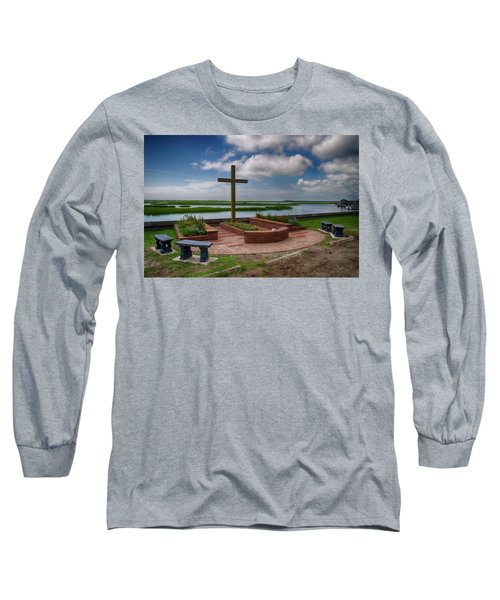 New Garden Cross At Belin Umc Long Sleeve T-Shirt