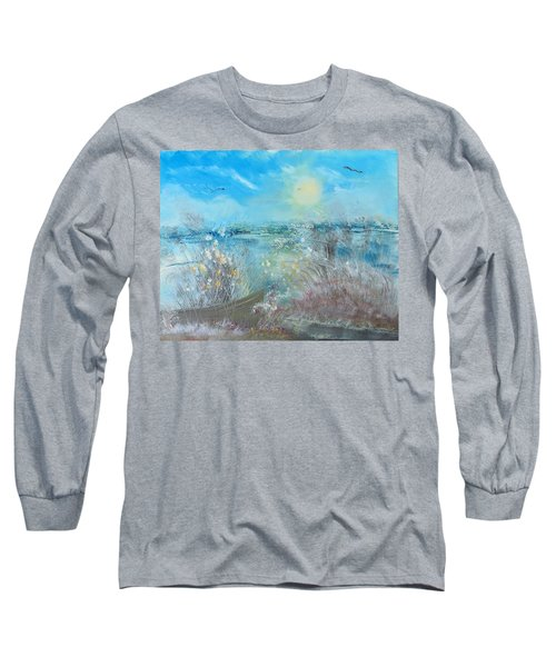 Boat In The Bay Long Sleeve T-Shirt