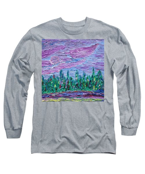 Long Sleeve T-Shirt featuring the painting New Jersey Colors by Vadim Levin