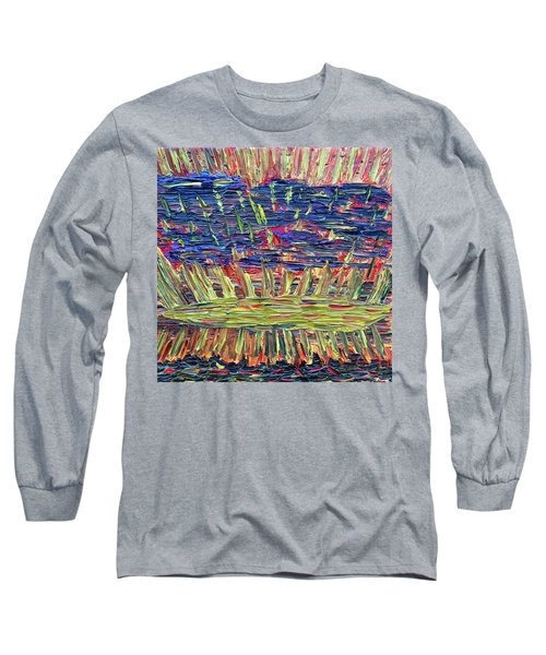 New Jersey Sunset Long Sleeve T-Shirt by Vadim Levin