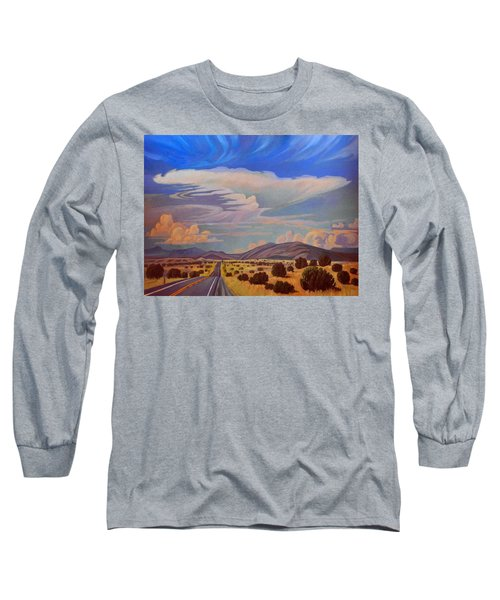 Long Sleeve T-Shirt featuring the painting New Mexico Cloud Patterns by Art James West