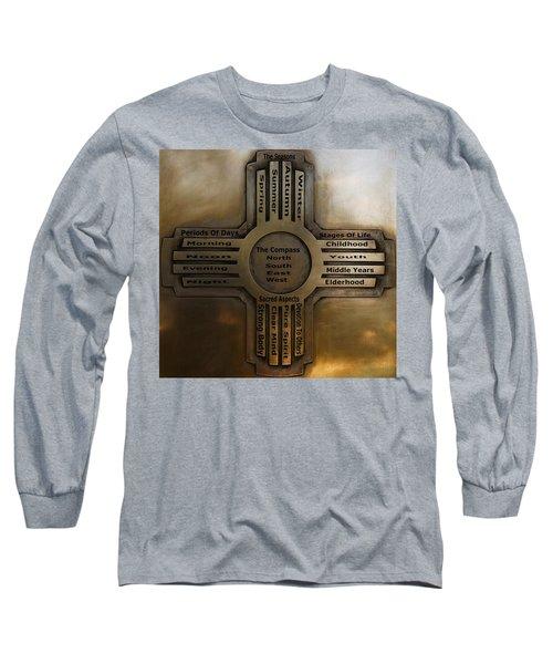 New Mexico State Symbol The Zia Long Sleeve T-Shirt by Joseph Frank Baraba