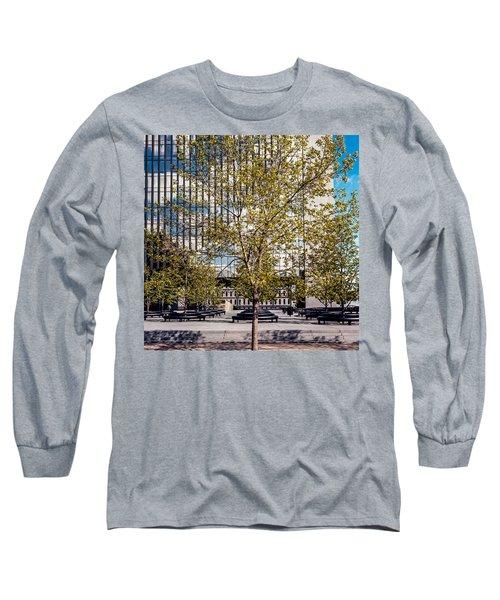 Trees On Fed Plaza Long Sleeve T-Shirt