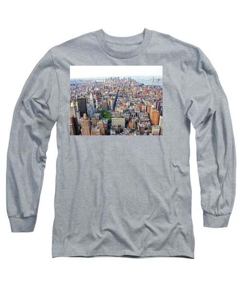 New York Aerial View Long Sleeve T-Shirt