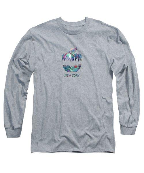 new York apple  Long Sleeve T-Shirt by Mark Ashkenazi