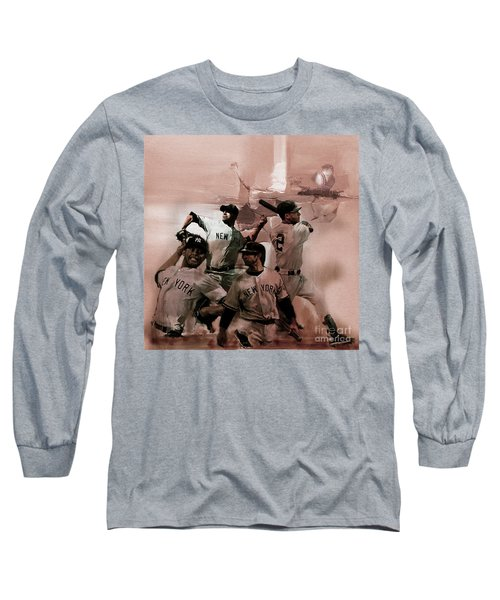 New York Baseball  Long Sleeve T-Shirt by Gull G