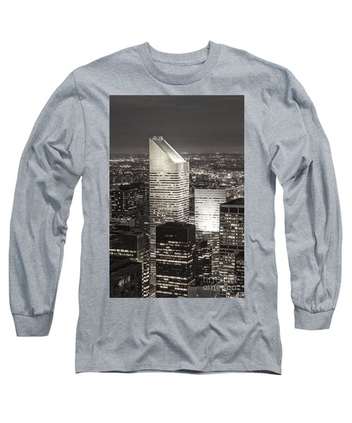 Long Sleeve T-Shirt featuring the photograph New York Citigroup Center  by Juergen Held