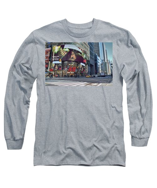 New York City - Broadway And 42nd St Long Sleeve T-Shirt by Dyle Warren