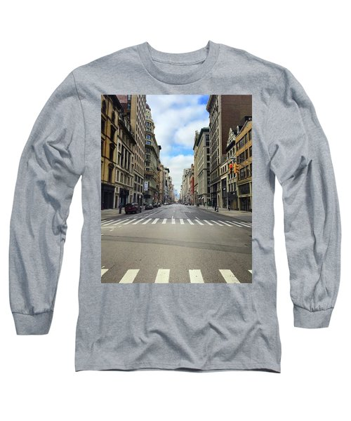New York Edge Of City Long Sleeve T-Shirt