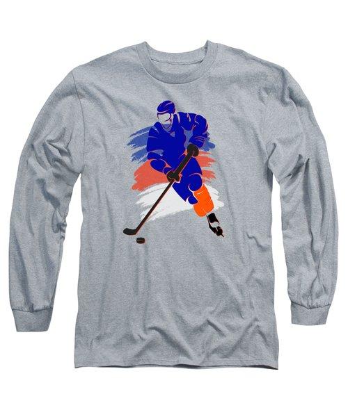 New York Islanders Player Shirt Long Sleeve T-Shirt by Joe Hamilton