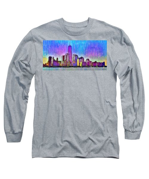 New York Skyline 2 - Da Long Sleeve T-Shirt