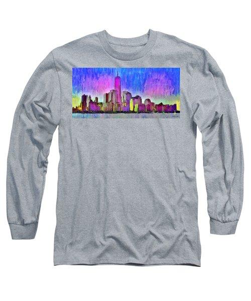 New York Skyline 4 - Da Long Sleeve T-Shirt