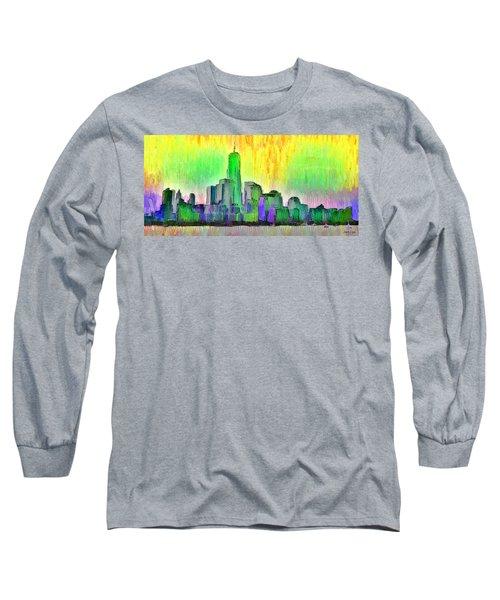 New York Skyline 5 - Da Long Sleeve T-Shirt