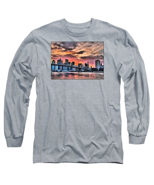 New York Sunset Long Sleeve T-Shirt by Charmaine Zoe