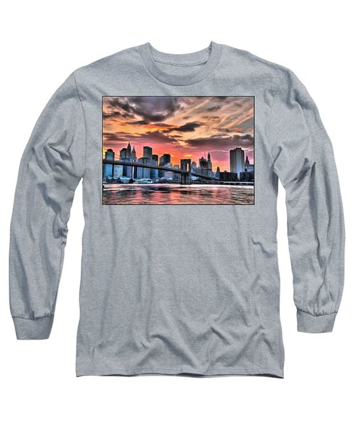 New York Sunset Long Sleeve T-Shirt