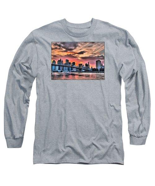 New York Sunset Long Sleeve T-Shirt