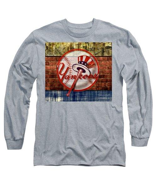 New York Yankees Top Hat Brick 2 Long Sleeve T-Shirt