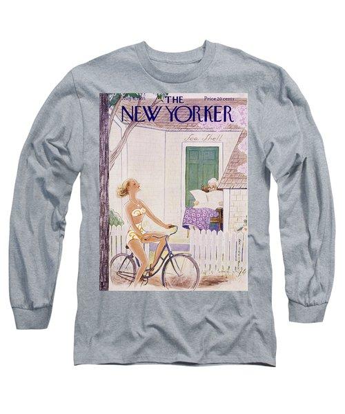 New Yorker August 6 1955 Long Sleeve T-Shirt