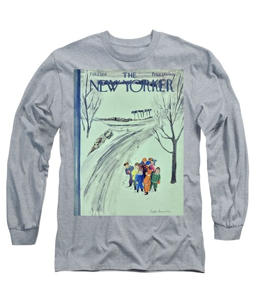 New Yorker February 1 1958 Long Sleeve T-Shirt