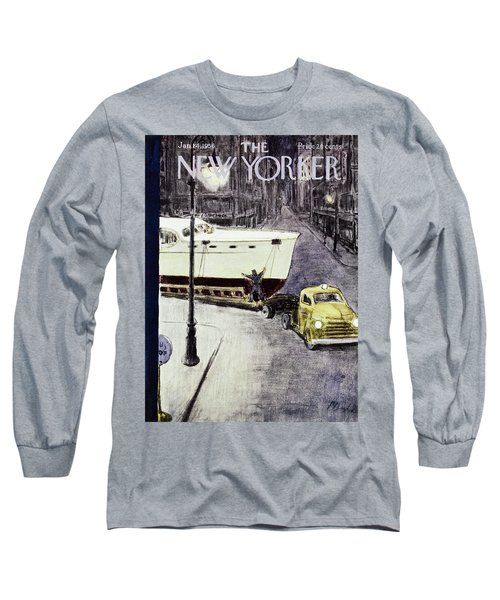 New Yorker January 14 1956 Long Sleeve T-Shirt