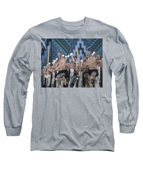 Long Sleeve T-Shirt featuring the photograph New Zealand,north Island,  Rotorua Arts Festival,dance And Singi by Juergen Held