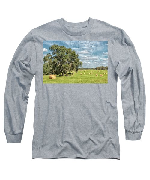 Newly Baled Hay Long Sleeve T-Shirt
