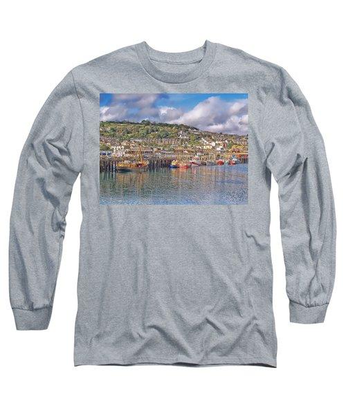 Newlyn Harbour Cornwall 2 Long Sleeve T-Shirt