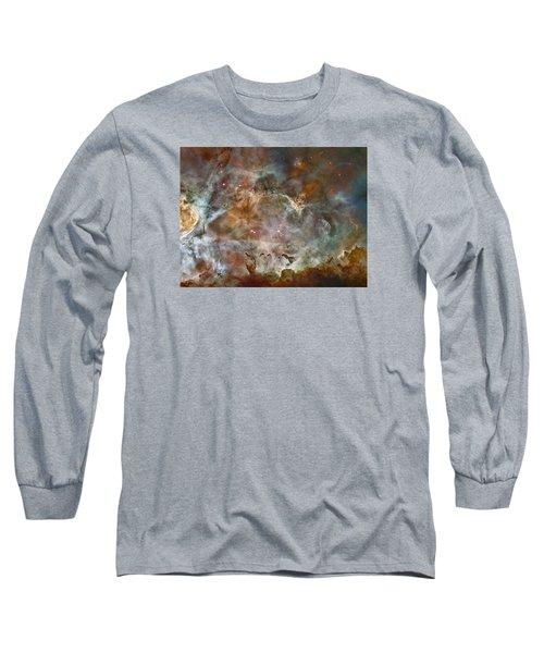 Ngc 3372 Taken By Hubble Space Telescope Long Sleeve T-Shirt