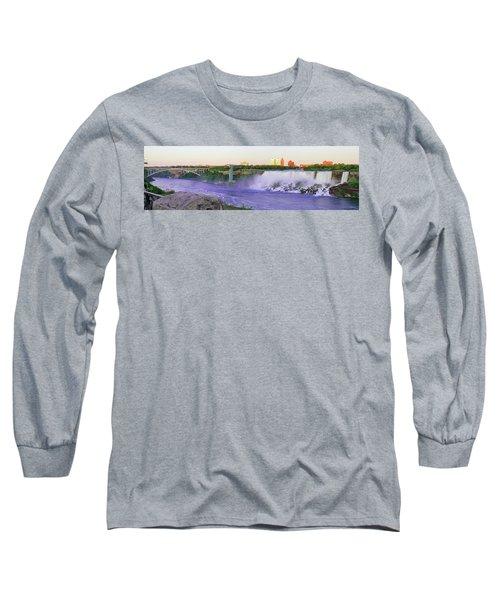 Niagara Falls At Dusk Long Sleeve T-Shirt