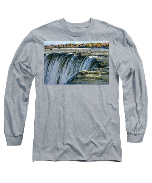 Niagara Falls In Autumn Long Sleeve T-Shirt