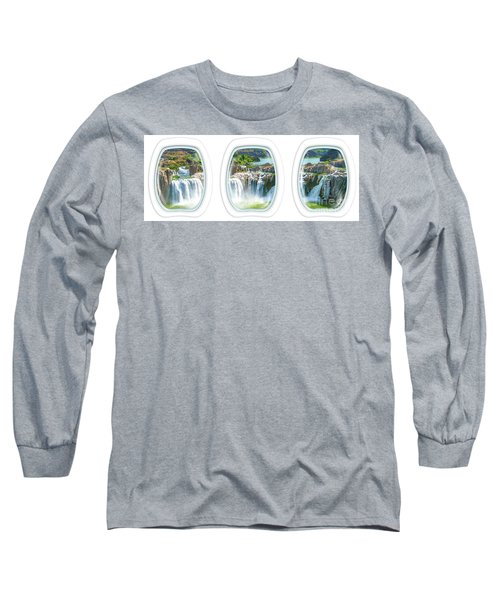 Niagara Falls Porthole Windows Long Sleeve T-Shirt