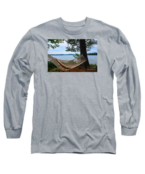 Nice Spot For A Nap Long Sleeve T-Shirt by Mim White