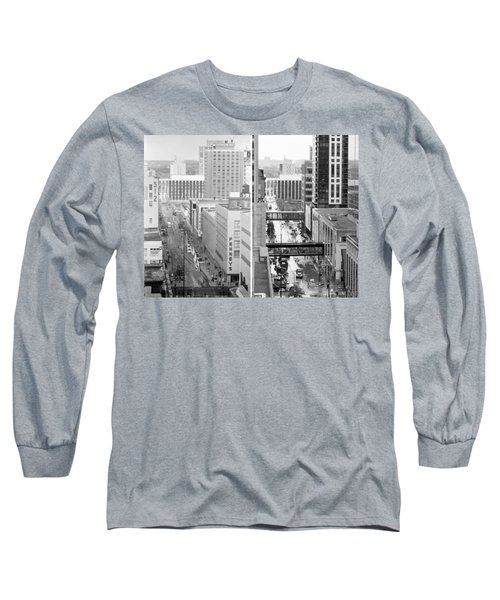 Nicollet Mall From Dayton's 12th Floor Long Sleeve T-Shirt