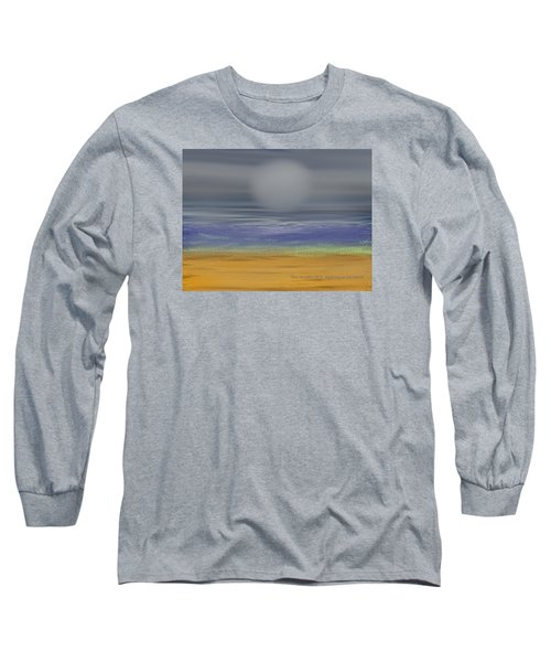 Night Fog On The Beach Long Sleeve T-Shirt