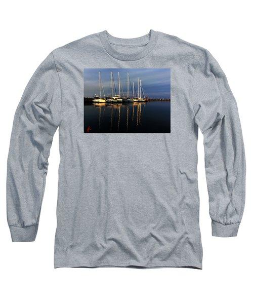 Night On Paros Island Greece Long Sleeve T-Shirt by Colette V Hera  Guggenheim