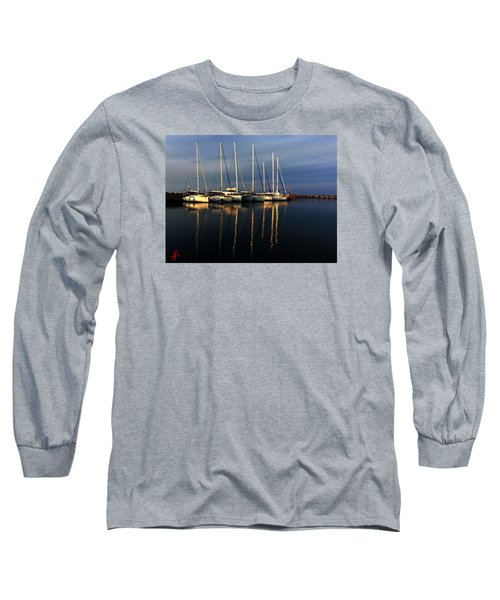 Night On Paros Island Greece Long Sleeve T-Shirt