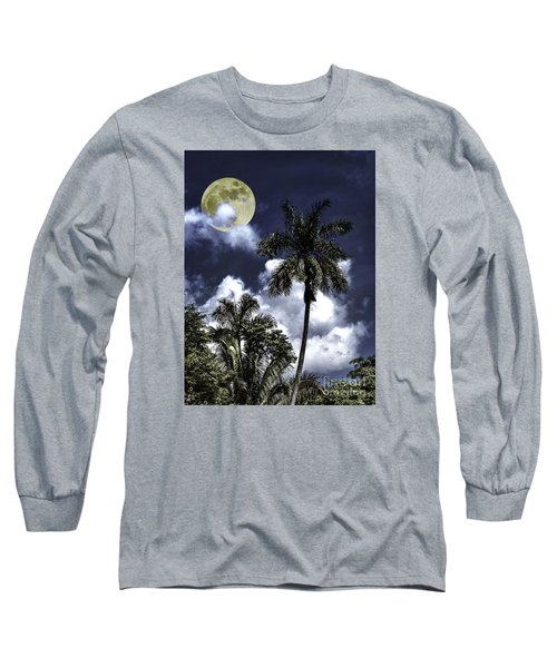 Night Palms Long Sleeve T-Shirt by Ken Frischkorn