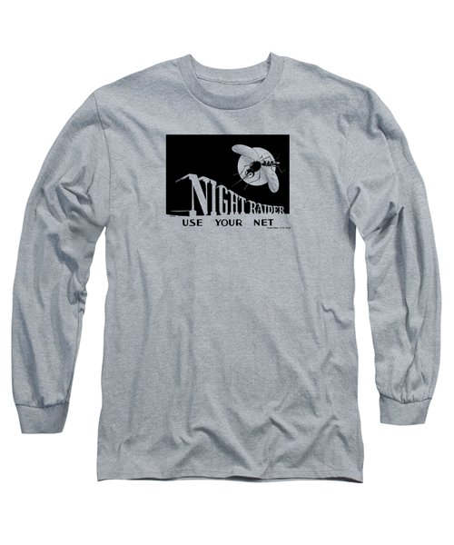 Night Raider Ww2 Malaria Poster Long Sleeve T-Shirt