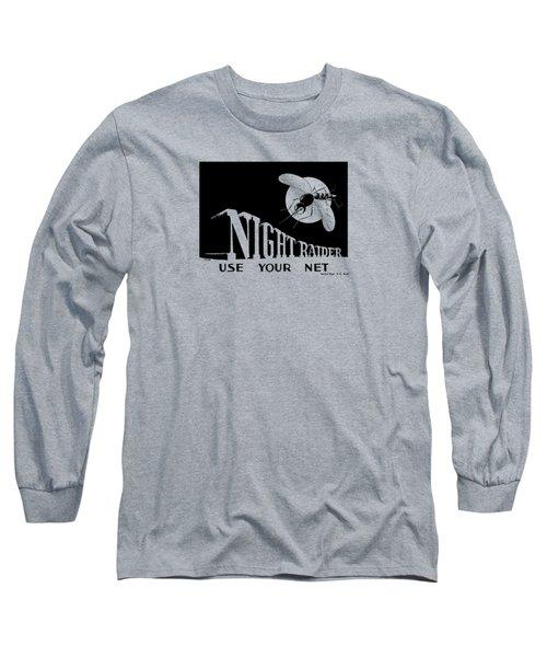 Night Raider Ww2 Malaria Poster Long Sleeve T-Shirt