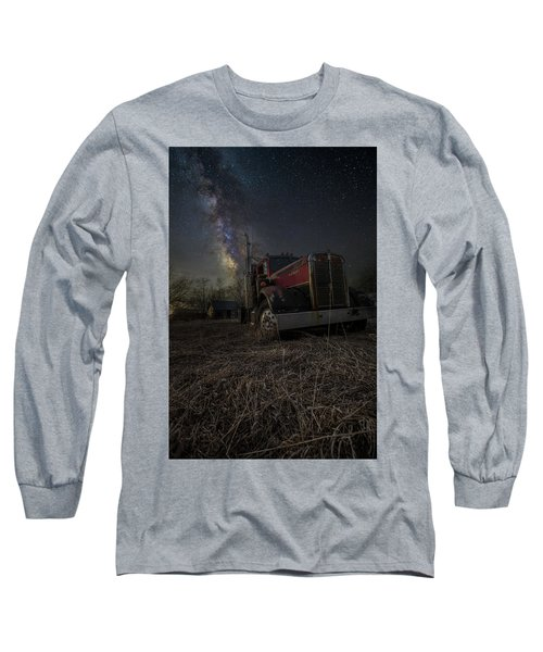 Long Sleeve T-Shirt featuring the photograph Night Rig by Aaron J Groen
